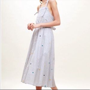 NWT Anthropologie Leana Embroidered Dress